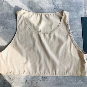 American Apparel Camel Coloured Crop Top